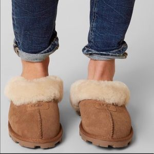 UGG🍁🍂coquette slippers chestnut women's 5 New